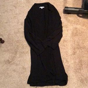 Long line black cardigan